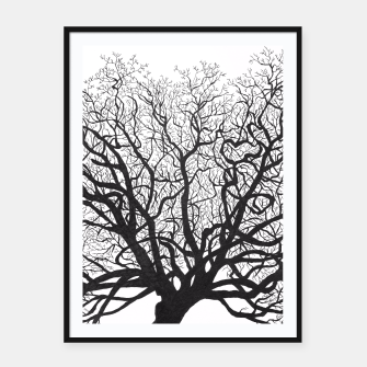 Thumbnail image of Tree Framed poster, Live Heroes