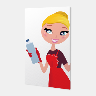 Miniaturka Amazing cleaning Lady original art illustration, Live Heroes