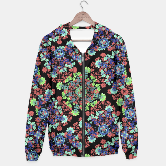 Thumbnail image of Colorful Stylized Floral Collage Hoodie, Live Heroes