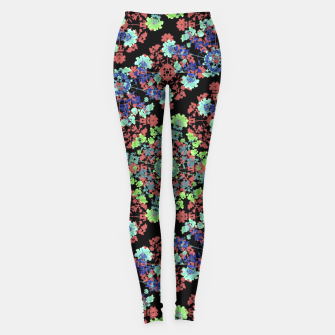 Thumbnail image of Colorful Stylized Floral Collage Leggings, Live Heroes