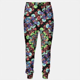 Thumbnail image of Colorful Stylized Floral Collage Sweatpants, Live Heroes