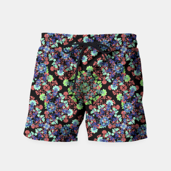 Thumbnail image of Colorful Stylized Floral Collage Swim Shorts, Live Heroes