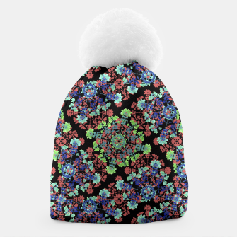 Thumbnail image of Colorful Stylized Floral Collage Beanie, Live Heroes
