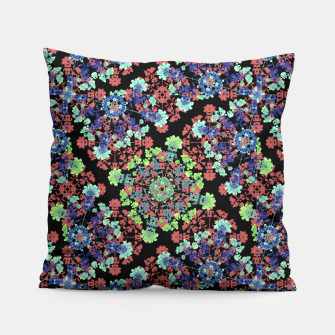 Thumbnail image of Colorful Stylized Floral Collage Pillow, Live Heroes