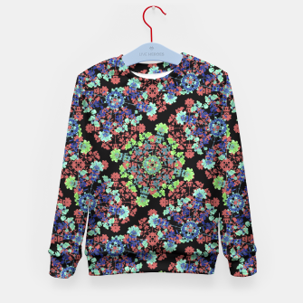 Thumbnail image of Colorful Stylized Floral Collage Kid's Sweater, Live Heroes