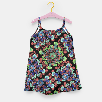 Thumbnail image of Colorful Stylized Floral Collage Girl's Dress, Live Heroes