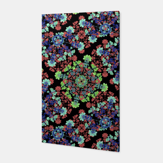 Thumbnail image of Colorful Stylized Floral Collage Canvas, Live Heroes