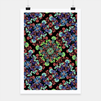 Thumbnail image of Colorful Stylized Floral Collage Poster, Live Heroes