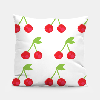 Thumbnail image of Artistic amazing Pillow : Red cherries on white, Live Heroes