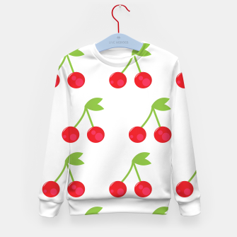 Thumbnail image of Kids designers sweater : White with Red cherries, Live Heroes