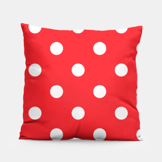 Miniaturka Artistic Fashion pillow : Red with white Dots , Live Heroes