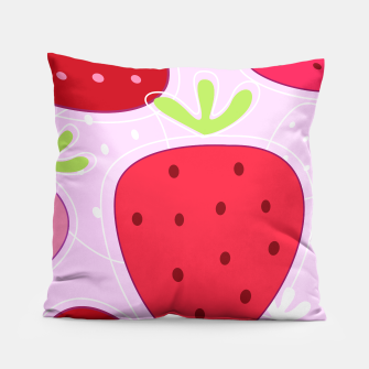 Miniaturka Fashionable pillow with Strawberries RED, Live Heroes