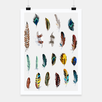 Miniatur Hanging Canvas with Feathers / BOHO STYLE, Live Heroes