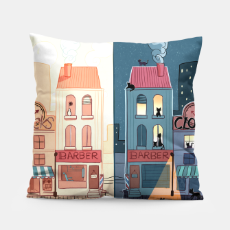 Thumbnail image of Urban Parallels Pillow, Live Heroes