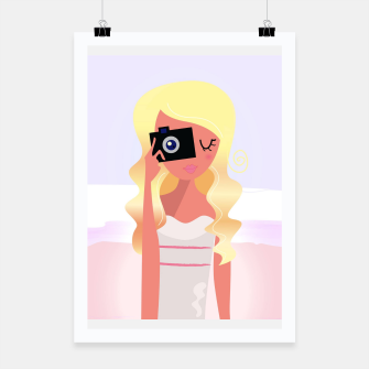 Thumbnail image of Creative poster with Photographer girl, Live Heroes