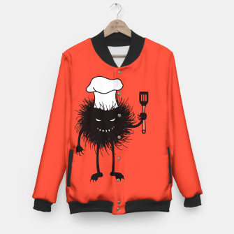 Thumbnail image of Evil Bug Chef Loves To Cook Baseball Jacket, Live Heroes