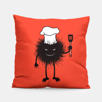 Thumbnail image of Evil Bug Chef Loves To Cook Pillow, Live Heroes