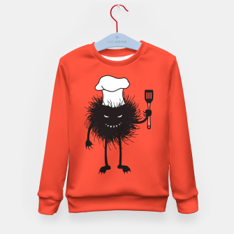 Thumbnail image of Evil Bug Chef Loves To Cook Kid's Sweater, Live Heroes
