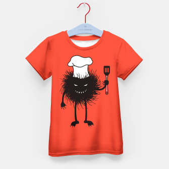 Thumbnail image of Evil Bug Chef Loves To Cook Kid's T-shirt, Live Heroes