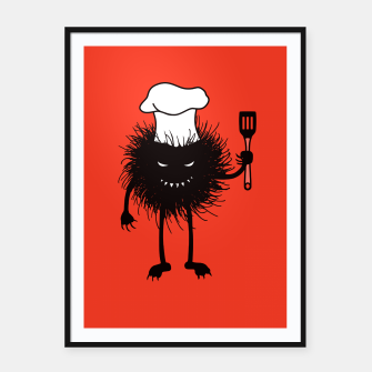 Thumbnail image of Evil Bug Chef Loves To Cook Framed poster, Live Heroes