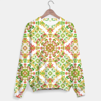 Thumbnail image of Colorful Stylized Floral Boho Sweater, Live Heroes