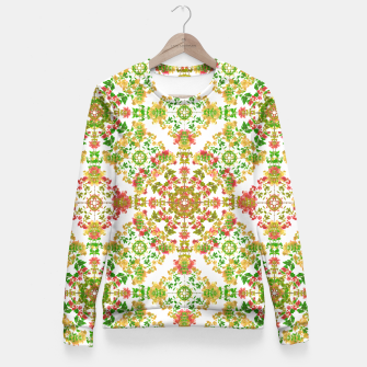 Thumbnail image of Colorful Stylized Floral Boho Fitted Waist Sweater, Live Heroes