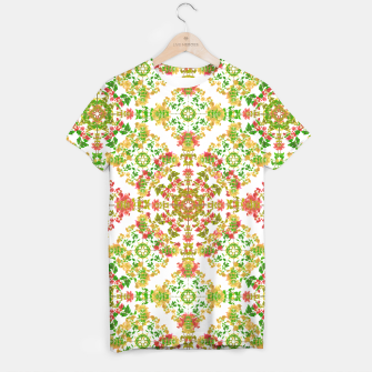 Thumbnail image of Colorful Stylized Floral Boho T-shirt, Live Heroes