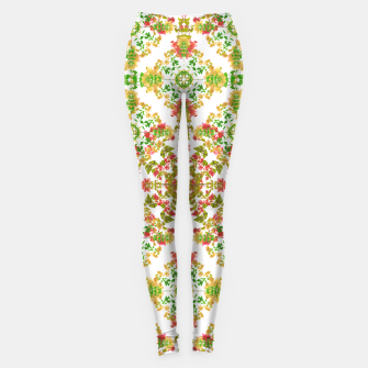 Thumbnail image of Colorful Stylized Floral Boho Leggings, Live Heroes