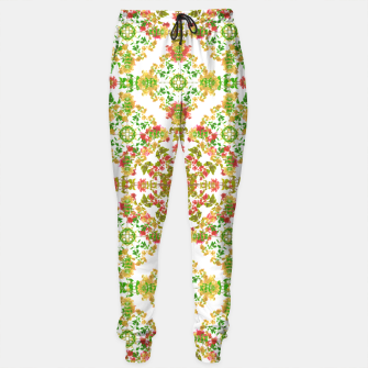 Thumbnail image of Colorful Stylized Floral Boho Sweatpants, Live Heroes