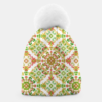 Thumbnail image of Colorful Stylized Floral Boho Beanie, Live Heroes
