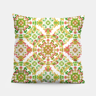 Thumbnail image of Colorful Stylized Floral Boho Pillow, Live Heroes