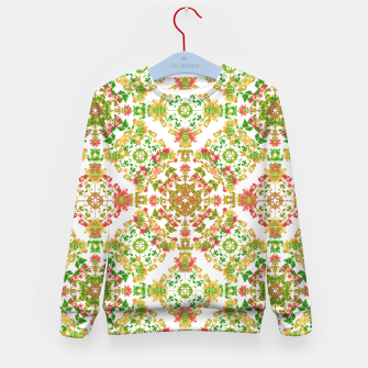 Thumbnail image of Colorful Stylized Floral Boho Kid's Sweater, Live Heroes