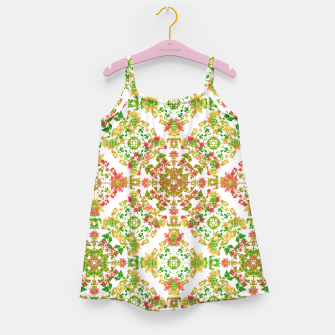 Thumbnail image of Colorful Stylized Floral Boho Girl's Dress, Live Heroes