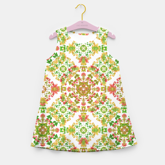 Thumbnail image of Colorful Stylized Floral Boho Girl's Summer Dress, Live Heroes
