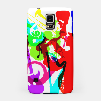 Thumbnail image of Jazz Blues Rock & Roll Music Themed multi Color Graphic Samsung Case, Live Heroes