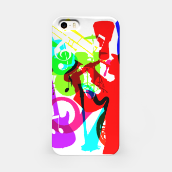 Thumbnail image of Jazz Blues Rock & Roll Music Themed multi Color Graphic iPhone Case, Live Heroes