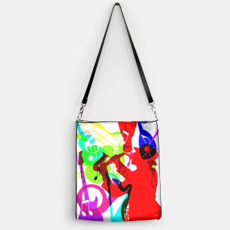 Thumbnail image of Jazz Blues Rock & Roll Music Themed multi Color Graphic Handbag, Live Heroes