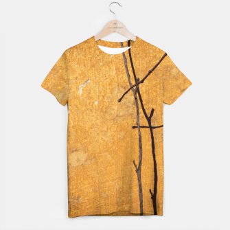 Golden wall T-shirt obraz miniatury