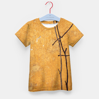 Golden wall Kid's T-shirt obraz miniatury