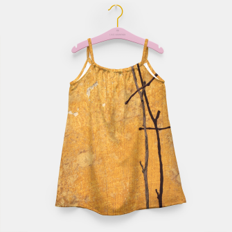 Golden wall Girl's Dress obraz miniatury