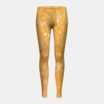Golden wall Girl's Leggings obraz miniatury