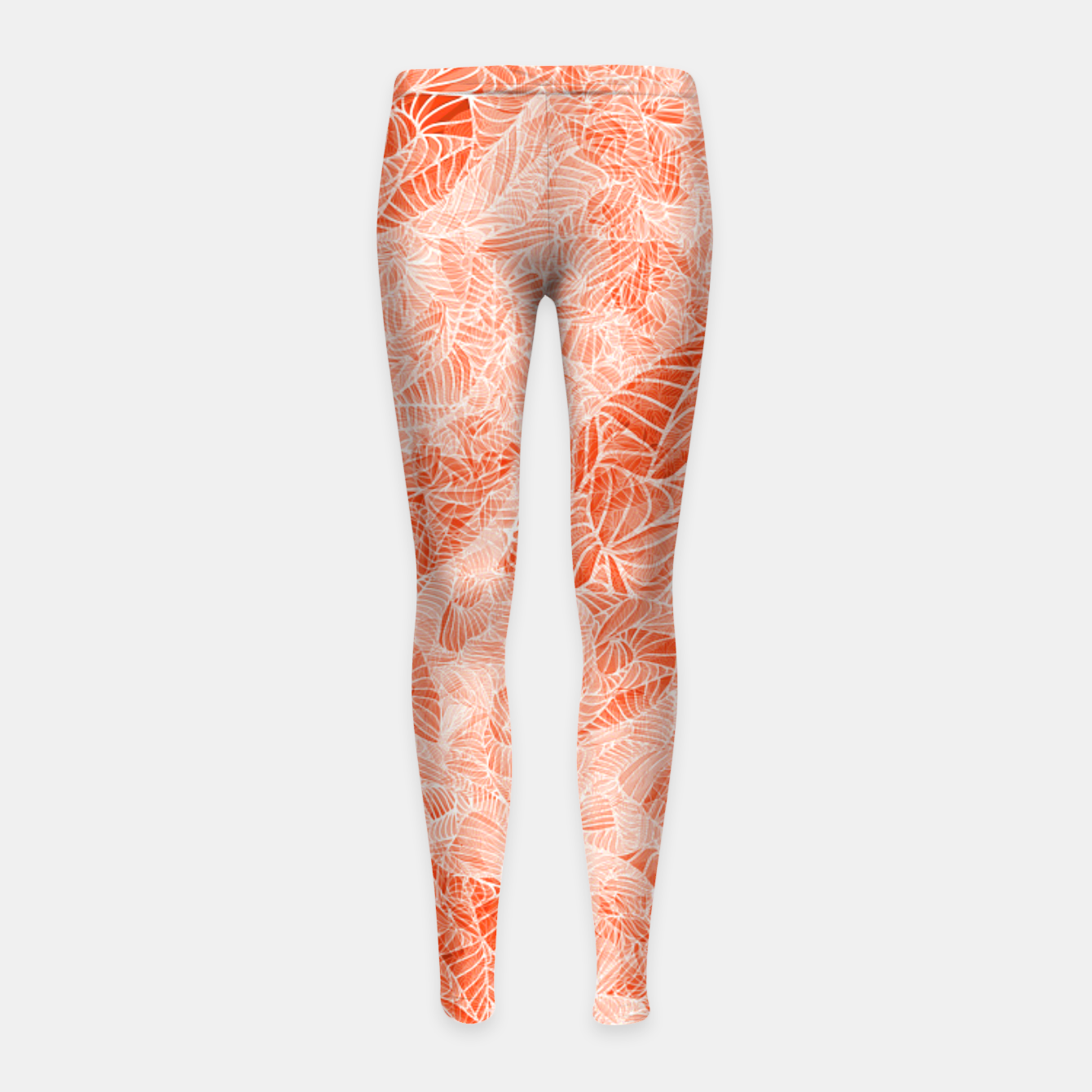Image of orng Girl's Leggings - Live Heroes