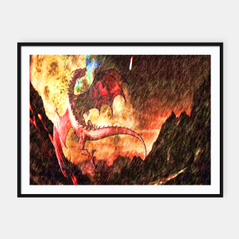 Thumbnail image of Dragon's fire Framed poster, Live Heroes