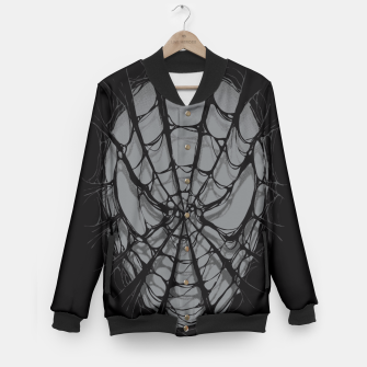Thumbnail image of Spiderweb Baseball Jacket, Live Heroes