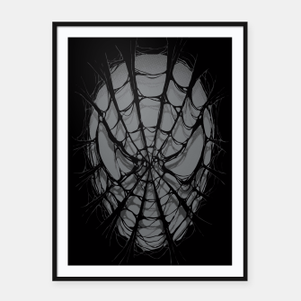 Thumbnail image of Spiderweb Framed poster, Live Heroes