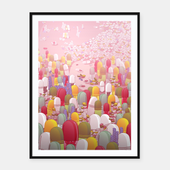 Thumbnail image of Society of Pills Framed poster, Live Heroes