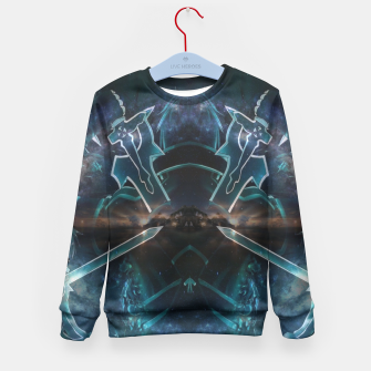 Thumbnail image of Sword art Online game Effect Kid's Sweater, Live Heroes