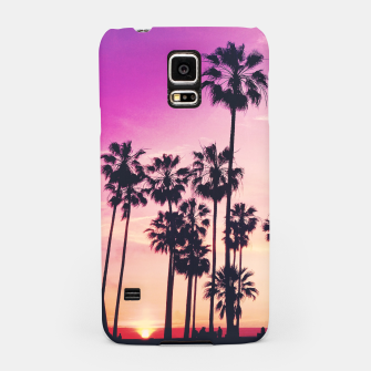 Thumbnail image of Relaxing Purple Sunset Beach Scene with Palms Samsung Case, Live Heroes