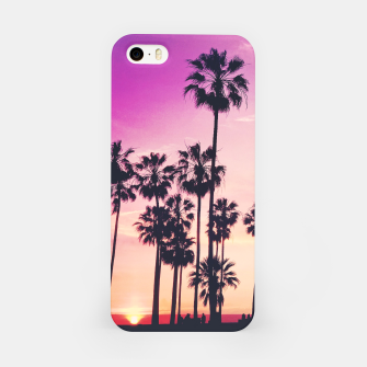 Thumbnail image of Relaxing Purple Sunset Beach Scene with Palms iPhone Case, Live Heroes