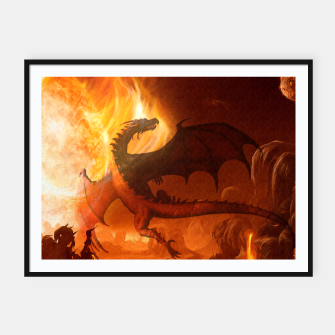 Thumbnail image of Dragon's world Framed poster, Live Heroes